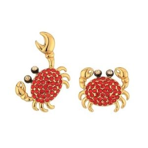 🦀Kate Spade Shore Thing Pave Crab Earrings NWT